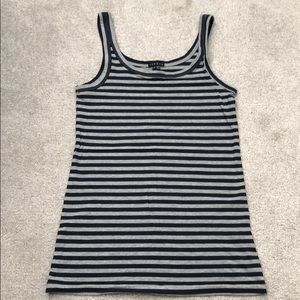 THEORY striped knit tank top